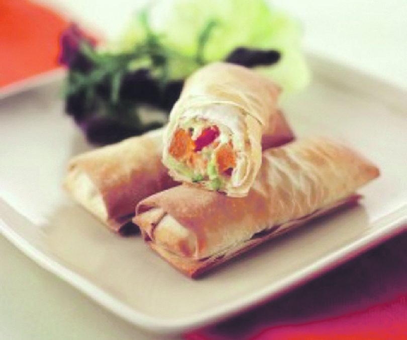 Feta and Vegetable Filo Rolls